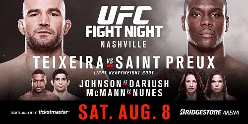 Результаты UFC Fight Night 73: Teixeira vs. St. Preux