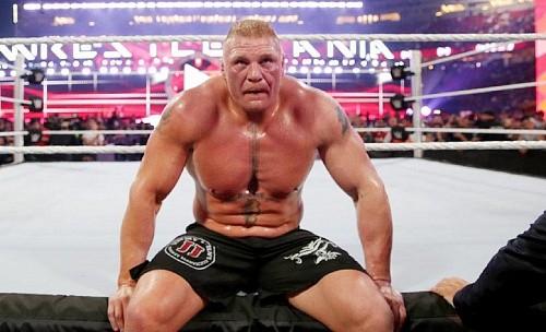 Брок Леснар получил временную дисквалификацию